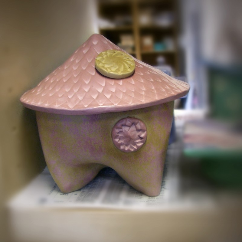ceramic pinhole camera Terra-sigillata