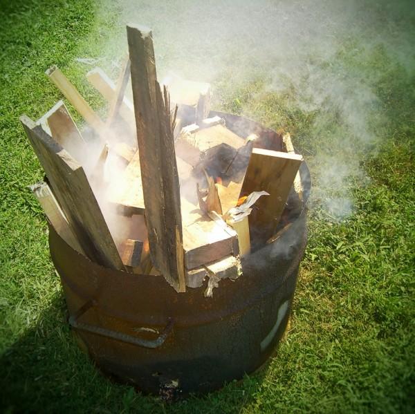 pit-fire process
