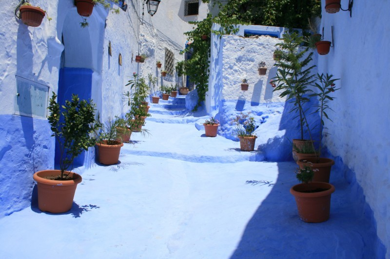 Blue street in Chefchaouen