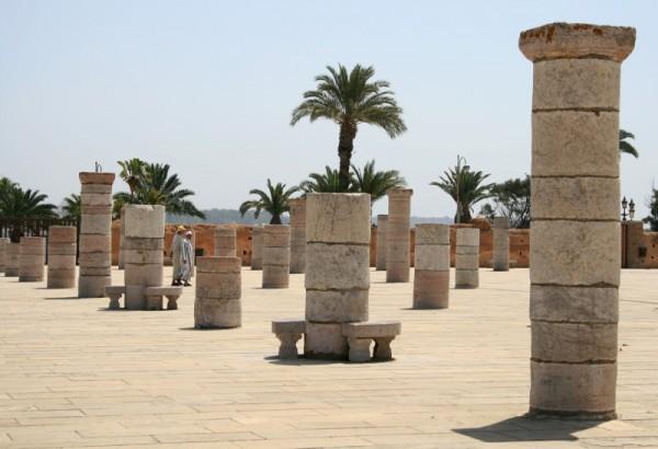 Hassan tower surroundings