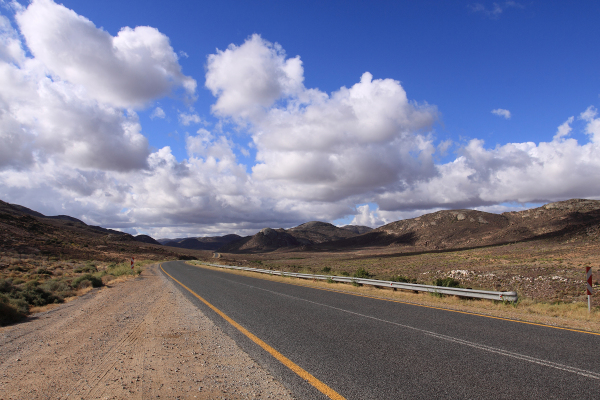 On the road from South Africa to Namibia