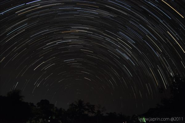 Startrails at My Village
