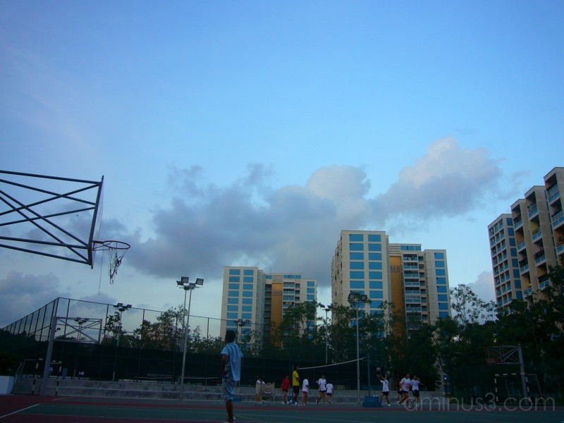 its just fian, and the millennia basketball court.