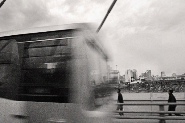 Johannesburg from a bus