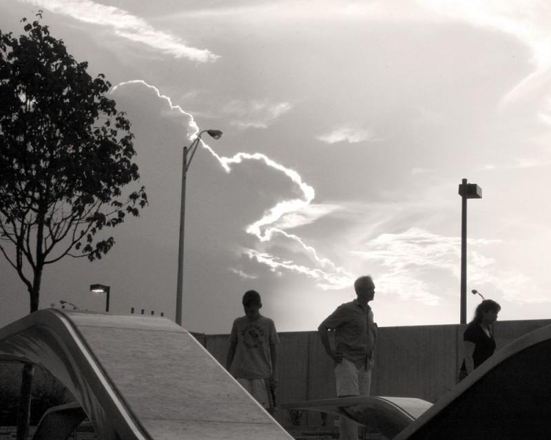 People at the Pentagon Memorial