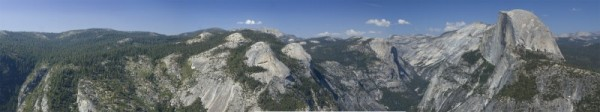 Panoramic view from Glacier Point