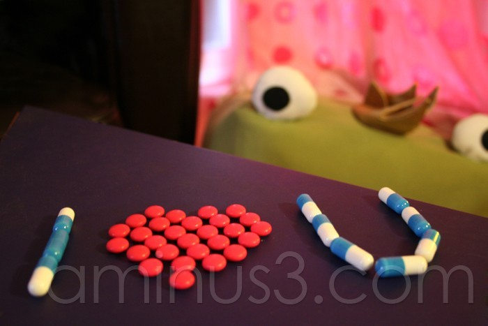 "Medecines which make the sentence ""I love you"""