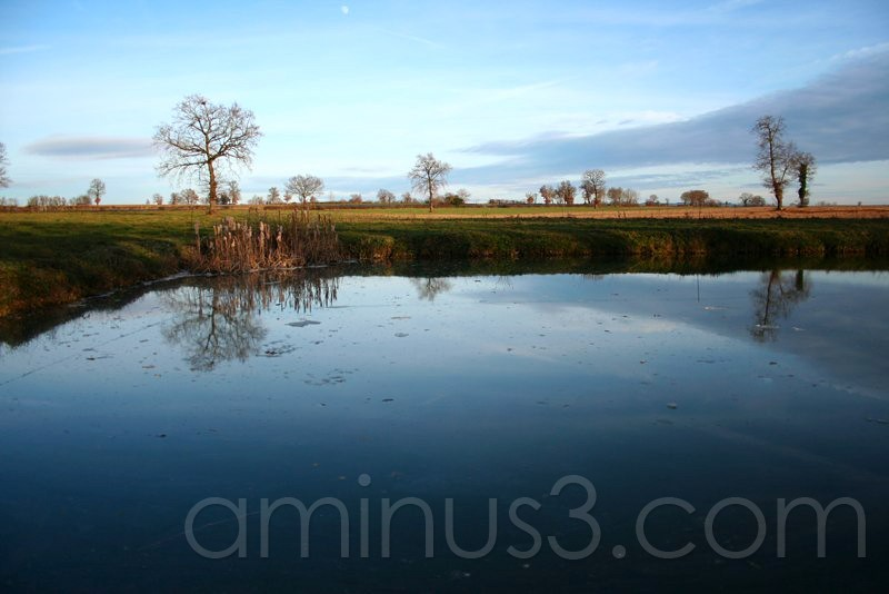 A pond in the countryside in south of France