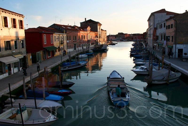 Houses near water in Murano Island