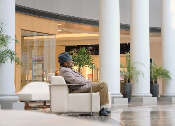 Man at the Mall