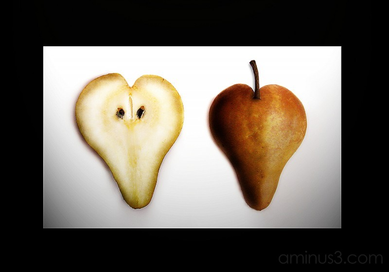 A pear of hearts