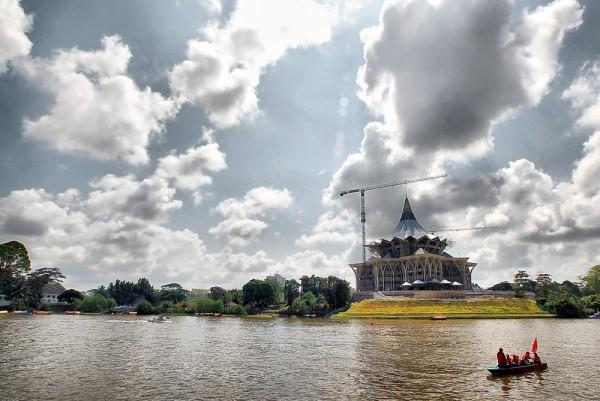 Sarawak DUN building in progress.