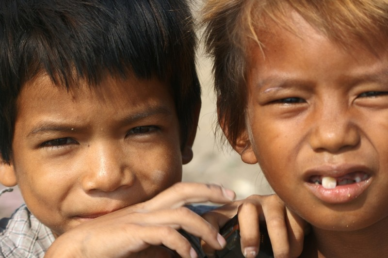 child workers at Stung Meanchey dump, Phnom Penh