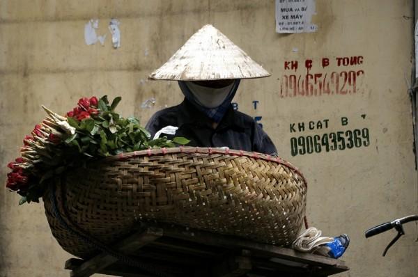 hanoi flower vendor