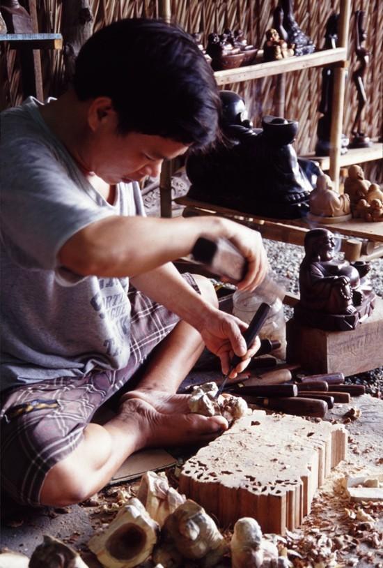 statue wood cambodia カンボヂア 仏 vietnam ベトナム