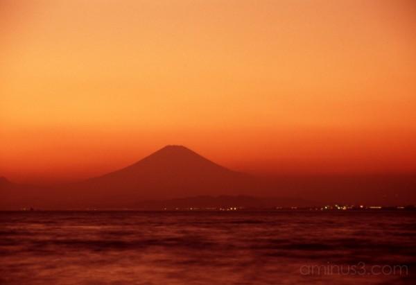 sunset ocean japan fuji kamakura 鎌倉 富士山 江ノ島 夕焼 日没