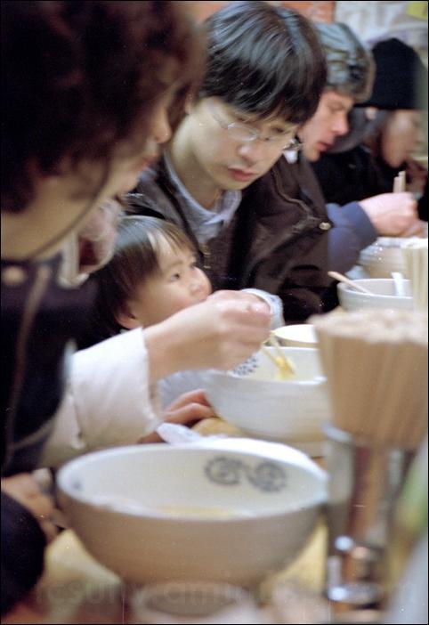japan kid hokkaido first soup ramen sapporo child