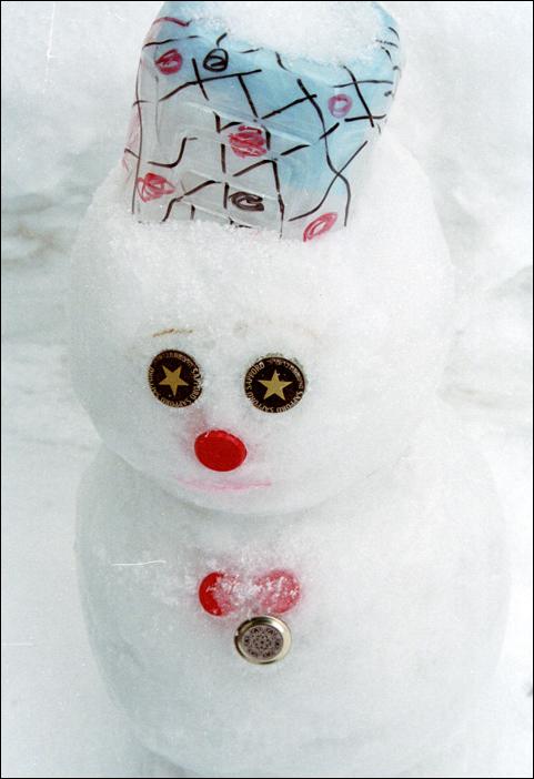 snow sculpture snowman sapporo ice japan hokkaido