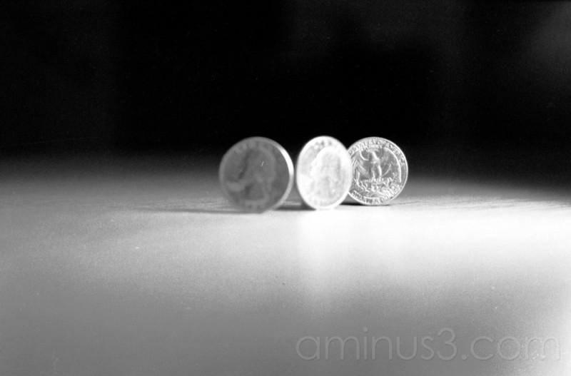 coins money quarter table