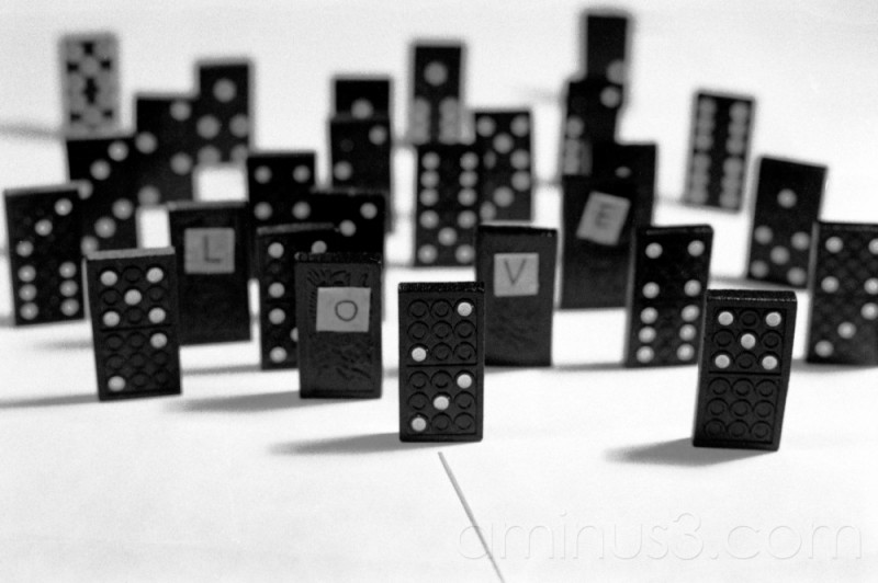love domino dominoes art concept valentine black
