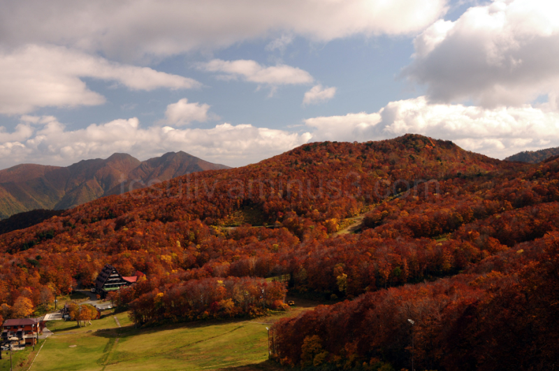 mountains momiji 山 もみじ zao 蔵王 cloud clouds red