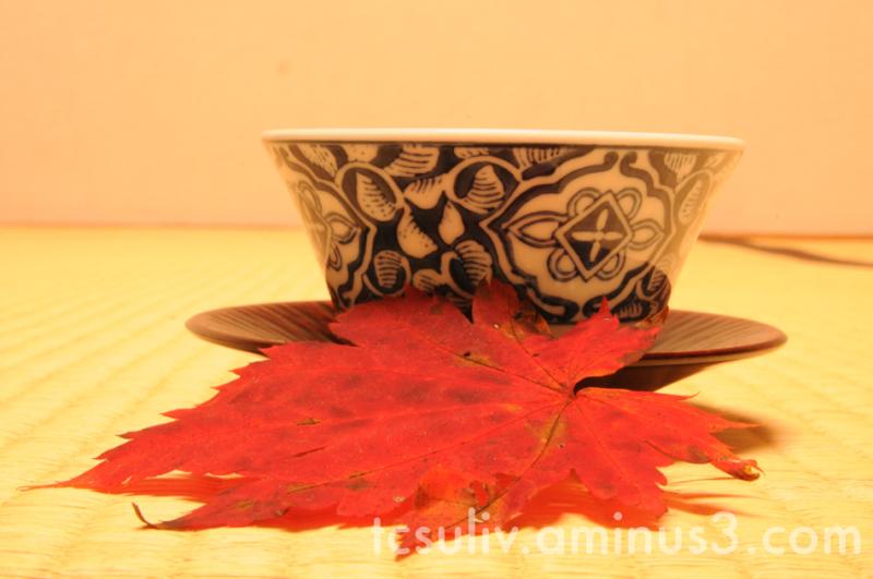 momiji leaf tea sencha teacup お茶 紅葉 もみじ 茶わん