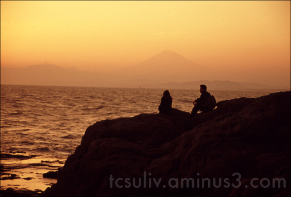 couple mount fuji sea カップル 富士山 海 kamakura enoshima