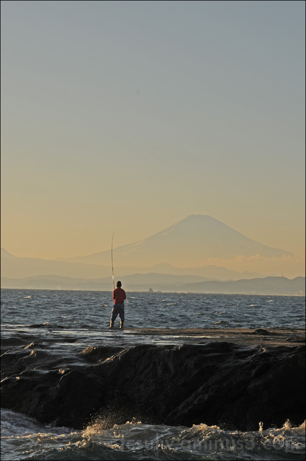 sea fishing views of mt. fuji kamakura 海釣 鎌倉 富士