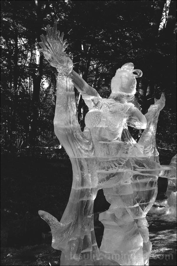 meiji jingu shrine ice sculpture sculpting 氷像 原宿