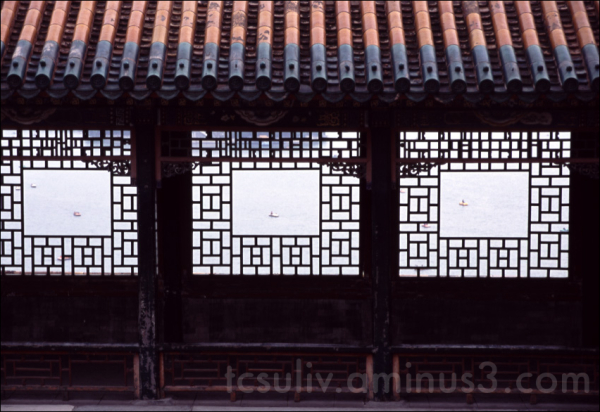 china gate window beijing lake houhai