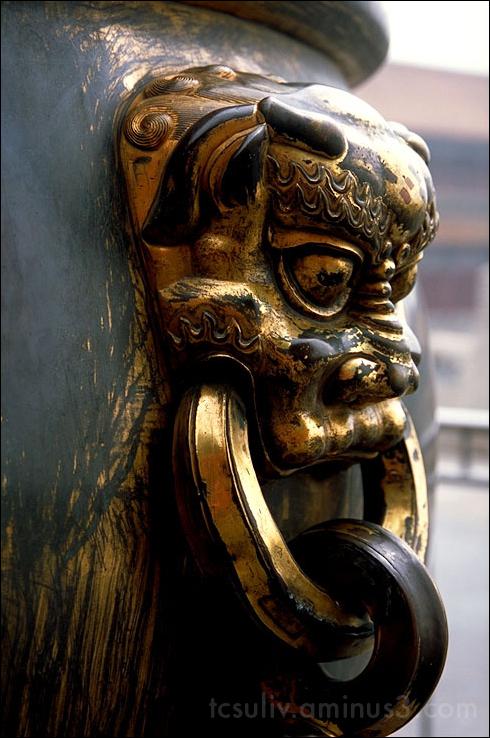 beijing china palace brass urn basin