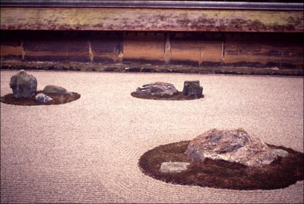 竜安寺 岩石庭園 rock garden at ryoanji temple kyoto