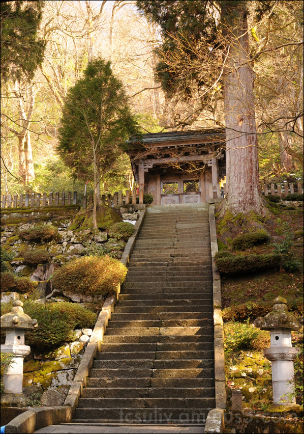 stairs leading up to eiheiji zen temple