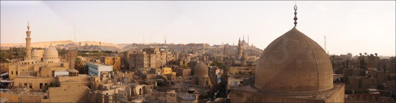 panorama, downtown Cairo カイロのパノラマ
