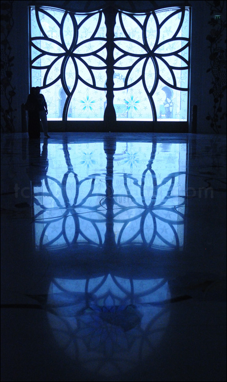 mosque silhouette glass