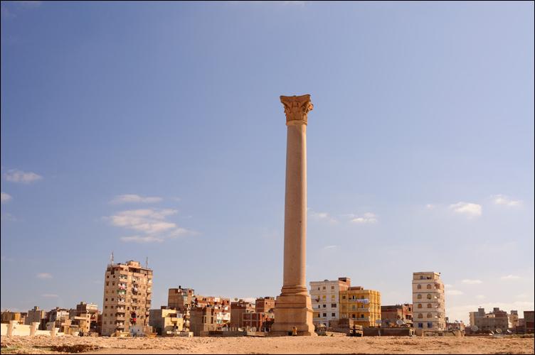 Pillar of Pompei in Alexandria, Egypt
