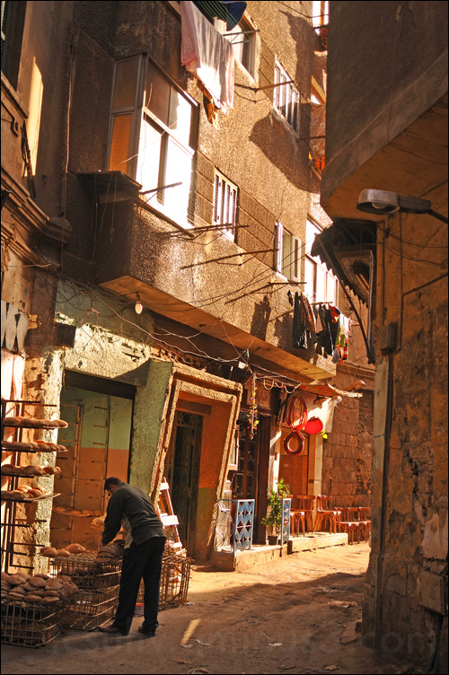 street running along inner part of old cairo