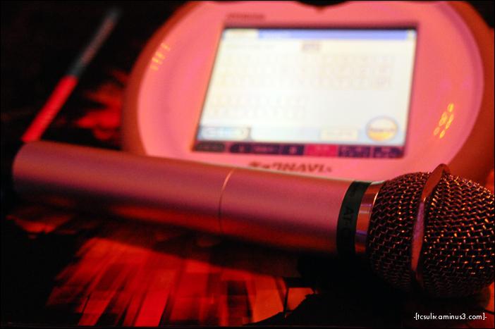 mic and song selector at karaoke-kan ueno