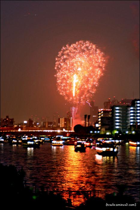 sumida fireworks boat (asakusa)