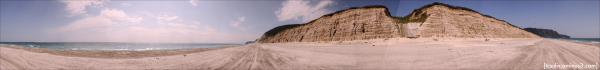 "Niijima's gorgeous Habushi Beach; taken from ""secr"