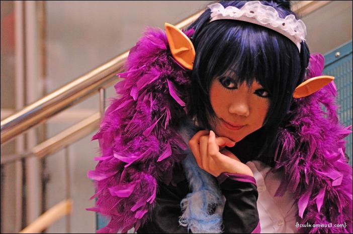 kawaii cosplay characters at tokyo gameshow 2009