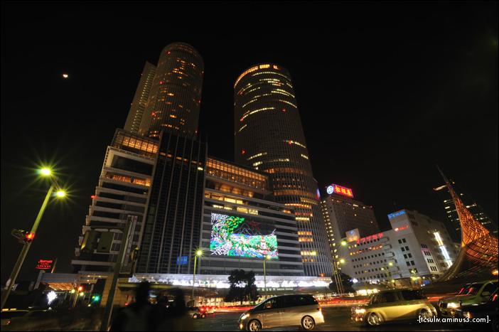 JR Towers display 2009 JRセントラルタワーズのライトアップ (Nagoya)
