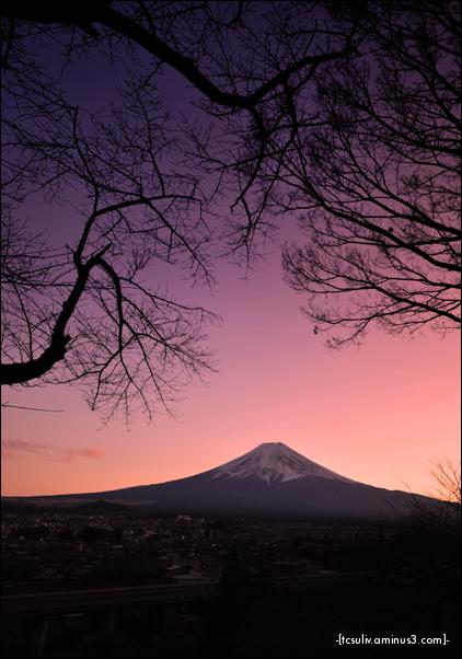 fuji sunset 富士山サンセット (fujiyoshida)