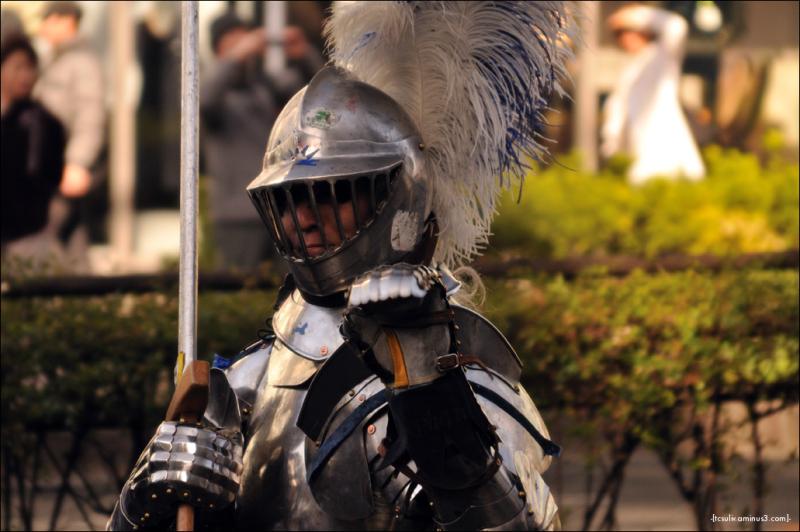 Knight in shining armor 甲冑をつけた騎士 (Harajuku)