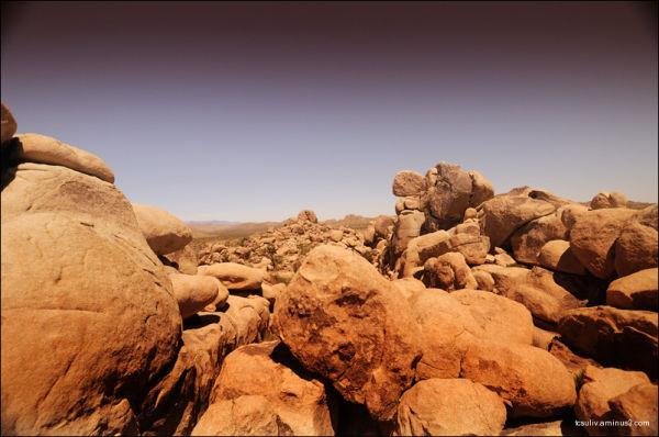Joshua Tree National Park: Stones ジョシュア・ツリー国立公園の石