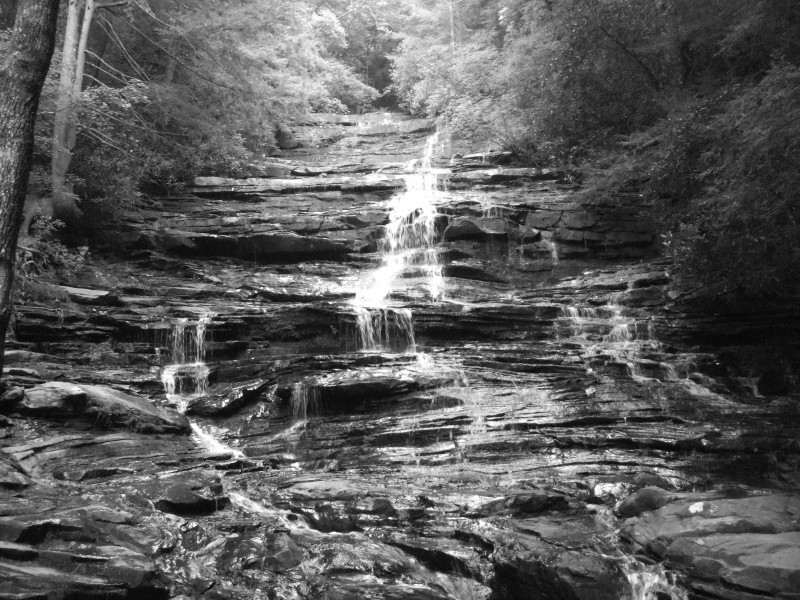Photo of Minnehaha Falls, near Lake Rabun.