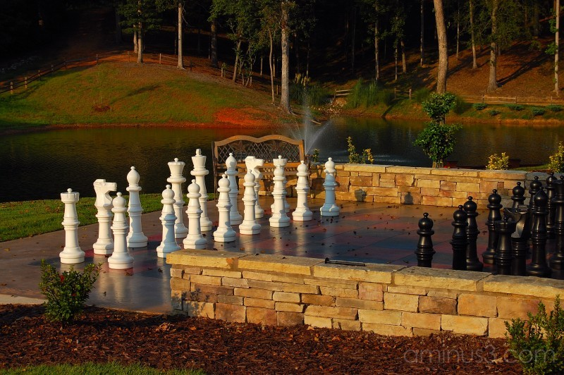 Chess Board By The Lake