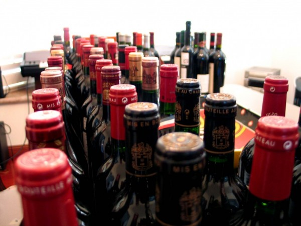 rows of bottles