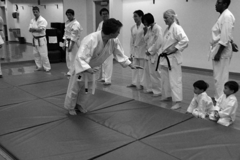 goju-ryu karate: learning to fall forwards