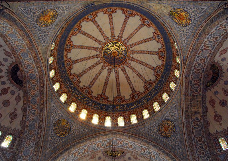 blue-tiled dome